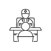 Icon for ask a doctor, patient, doctor, medical, discussion