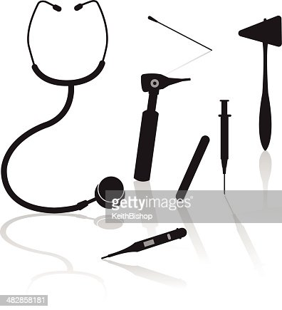 Medical Equipment Doctor Vector Art | Getty Images