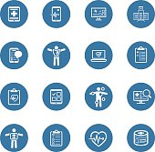 Medical & Health Care Icons Set. Flat Design. Isolated Illustration.
