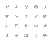 Vector icons designed to work in a 32 pixel grid.