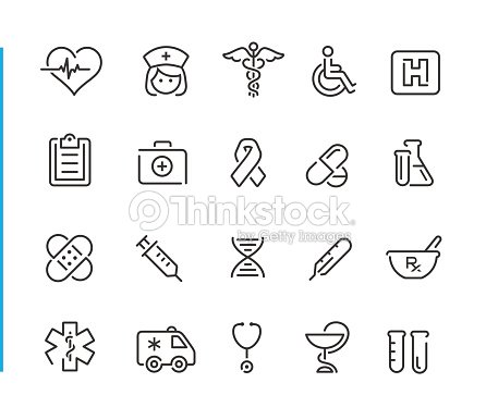 Medical Icon Set // Blue Line Series : stock vector