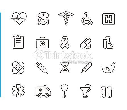 Jeu d'icônes médicales / / Blue Line Series : clipart vectoriel