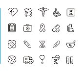Line medical icons for your digital or print projects.