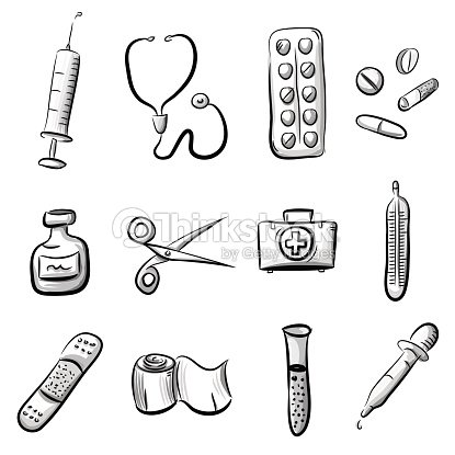 Medical Icon Set Stock Vector Thinkstock