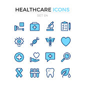 Medical icons. Vector line icons set. Premium quality. Simple thin line design. Stroke, linear style. Modern outline symbols, pictograms