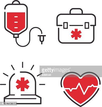 Medical icons vector set. : Vector Art