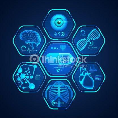 medical interface : stock vector
