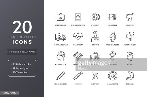 Medical Line Icons : Vector Art