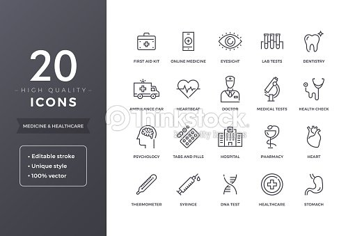 Medical Line Icons : stock vector