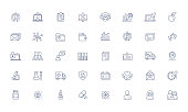 Medical, online doctor services, vector line icons