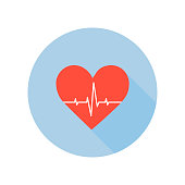 Medical Palpitation Icon. Heartbeat Healthcare and Medical Sign and Symbol