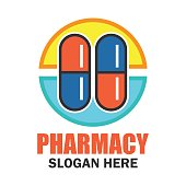 medical, pharmacy icon with text space for your slogan / tag line, vector illustration