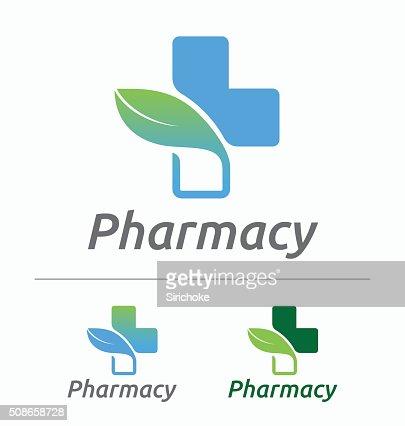 Medical pharmacy logo design : Vector Art