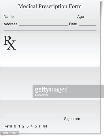 Medical Prescription Vector Art  Getty Images