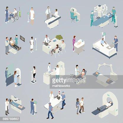 Medical Procedure Illustrations : Vector Art