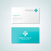 Medical professional business card design mockup