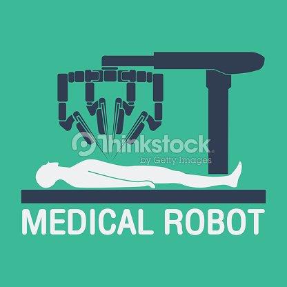 Medical Robot Icon Vector stock vector - Thinkstock