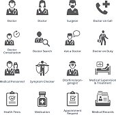 This set contains medical services icons that can be used for designing and developing websites, as well as printed materials and presentations.