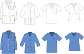 Medical shirt uniform vector template