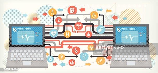 Medical technology : Vector Art