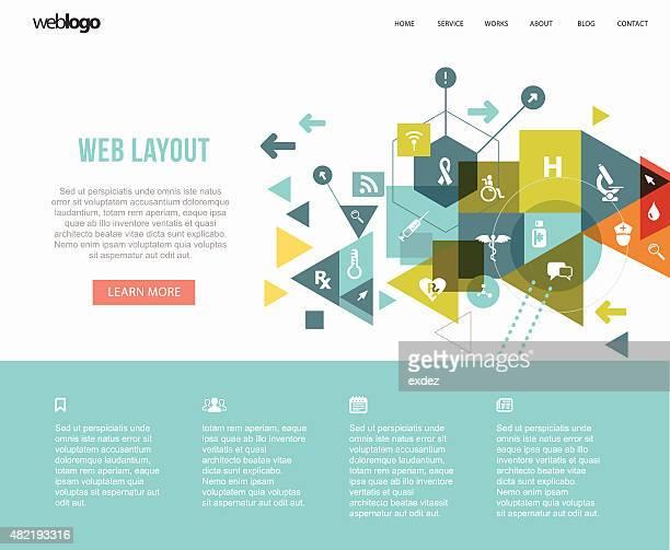 Medical web layout