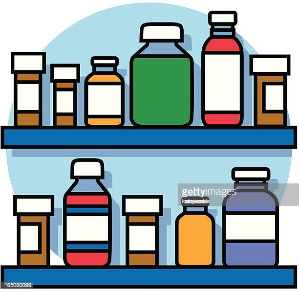 Kitchen Cabinet Clip Art: Cough Medicine Stock Illustrations And Cartoons