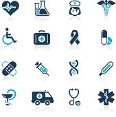 Medical vector icons for website or printed media.