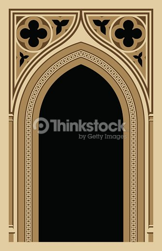Medieval Gothic Arch Vector Art