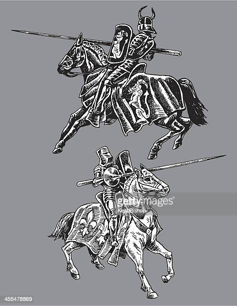 Medieval Jousters - Good and Evil Knights