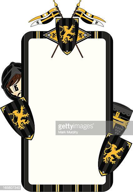 Medieval Knights & Shield Frame
