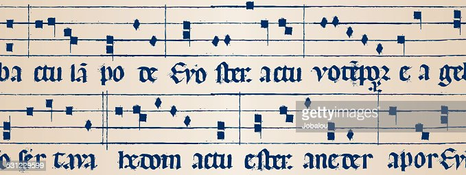 Medieval Music Score Seamless : Vector Art