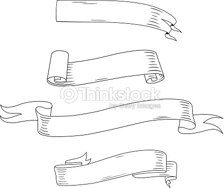 Medieval ribbons and banners vector art thinkstock - Dessin banderole ...