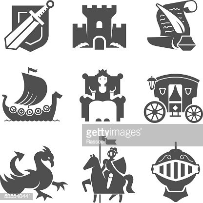 medieval symbols collection vector art thinkstock
