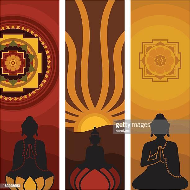 Méditer Bouddha (vecteur