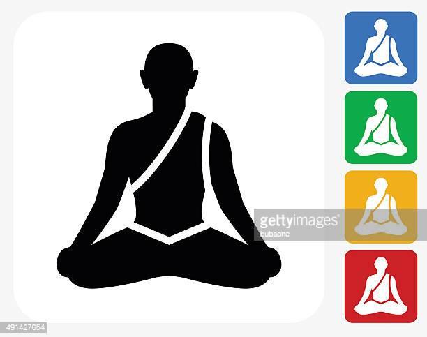 Icône de méditation à la conception graphique