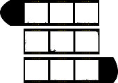 medium format film strip picture frames,with free copy space, slightly grungy vector