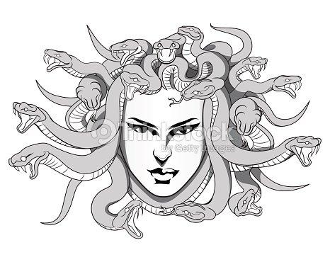 M duse illustration clipart vectoriel thinkstock for Medusa da colorare