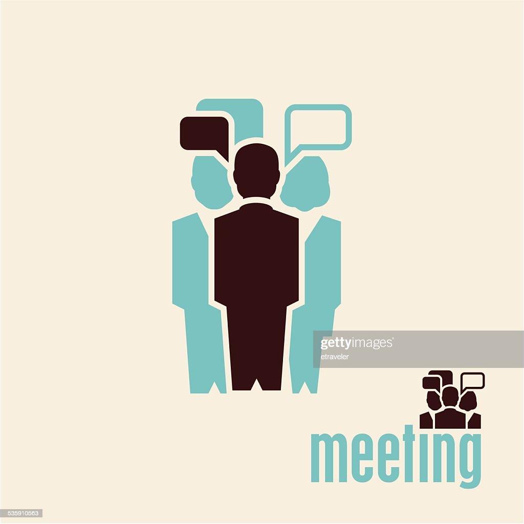 Reunião. Pessoas a falar. : Arte vetorial
