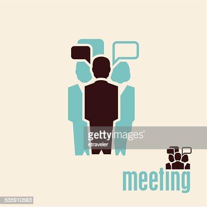 Meeting. People talking. : Vector Art