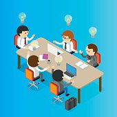 Board Room, Data, Equipment, Information Medium, Isometric Projection