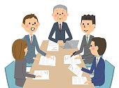 An illustration of an internal meeting.