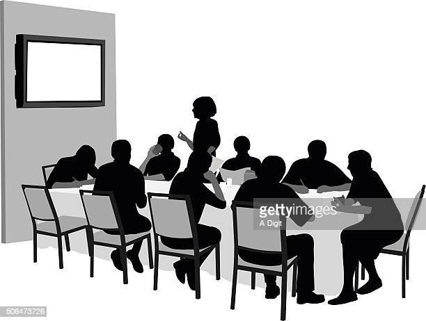 Meeting mit audiovisuelle Präsentation