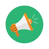 megaphone icon. vector illustration. business and marketing design concept.