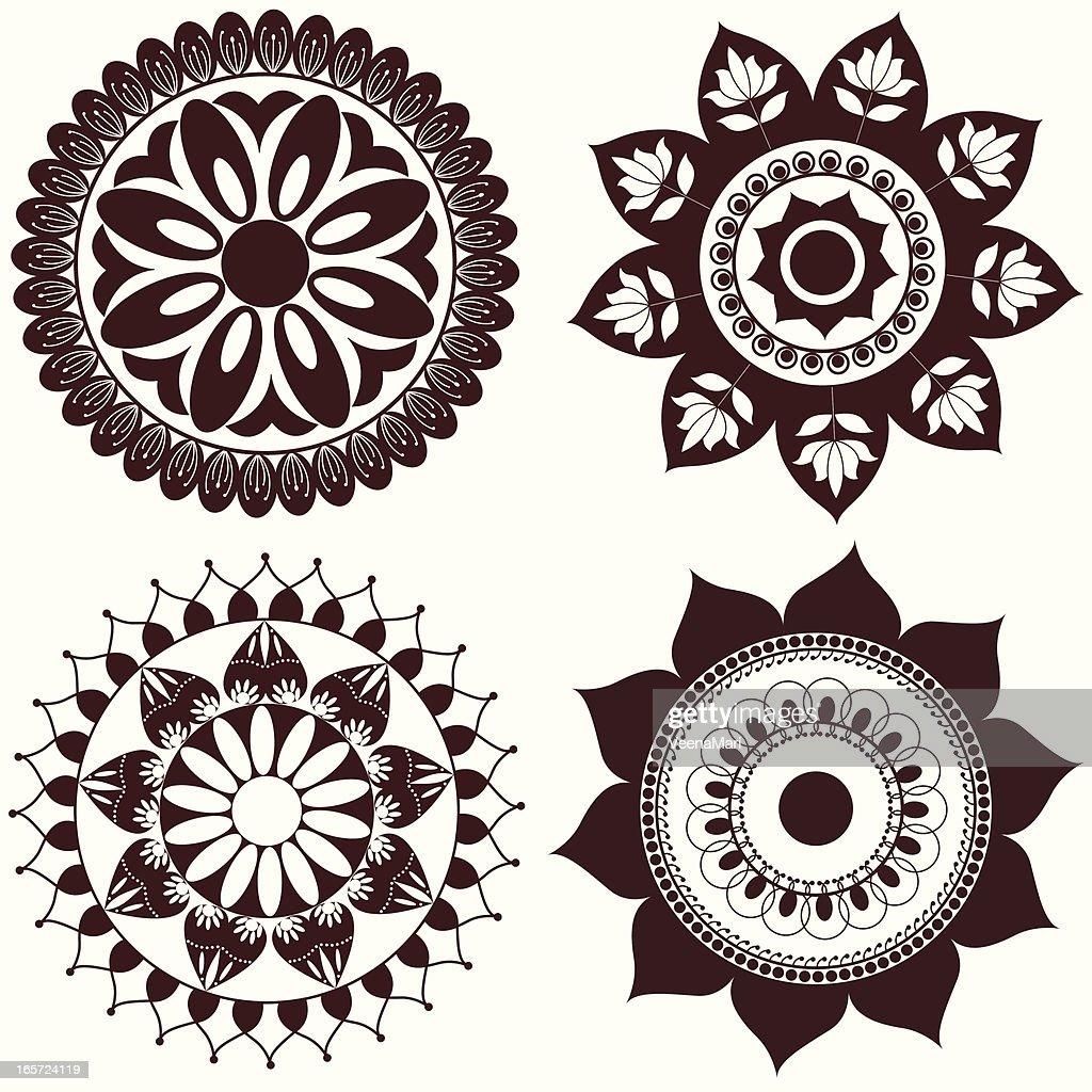 Circle Design Art : Mehandi circle design vector art getty images