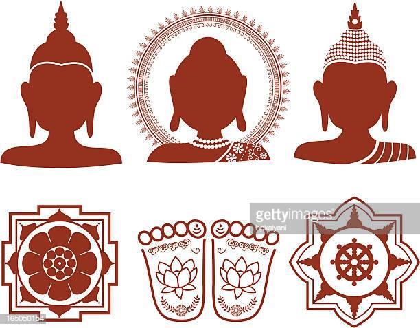 Bouddhas de Mehndi (vecteur