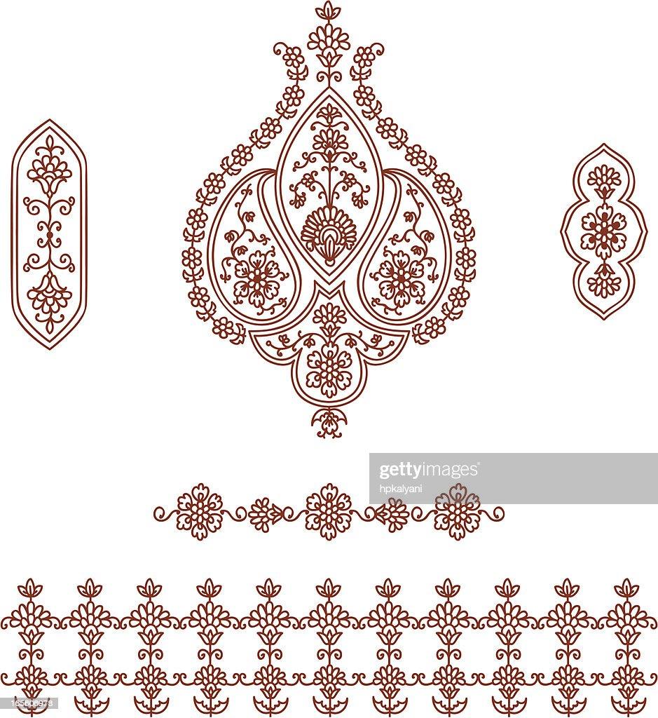 Mehndi Patterns Vector : Mehndi designs vector makedes