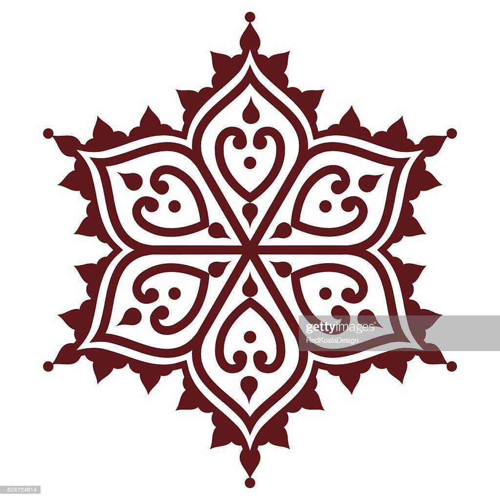 mehndi indian henna brown tattoo design flower shape vector art rh thinkstockphotos com indian henna designs vector free download indian henna designs vector free download