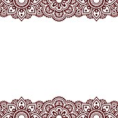 vector ornament - orient traditional style on white