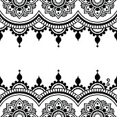 Vector border ornament - orient traditional style on white