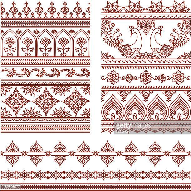 Mehndi Patterns Vector : Indian culture stock illustrations and cartoons getty images